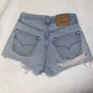 LEVI • 501 Destroyed Denim Shorts